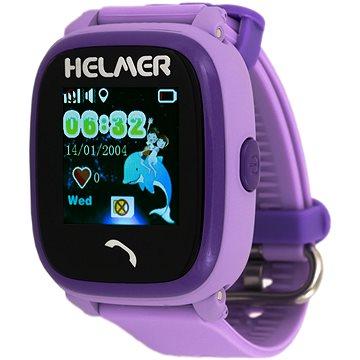 Dětské hodinky Helmer LK 704 fialové (8595568464583)