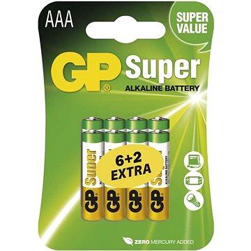 GP Super Alkaline LR03 (AAA) 6+2ks v blistru (B13118)