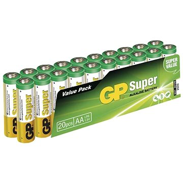 GP Super Alkaline LR6 (AA) 20ks v blistru (1013200210)