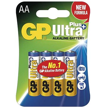 GP Ultra Plus LR6 (AA) 4ks v blistru (GP15AUP)