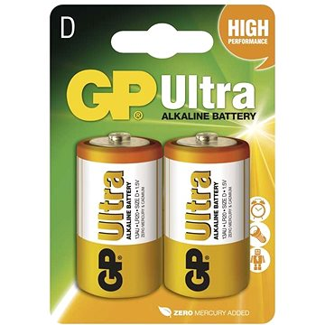 GP Ultra Alkaline LR20 (D) 2ks v blistru (1014412000)