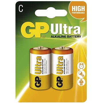 GP Ultra Alkaline LR14 (C) 2ks v blistru (1014312000)