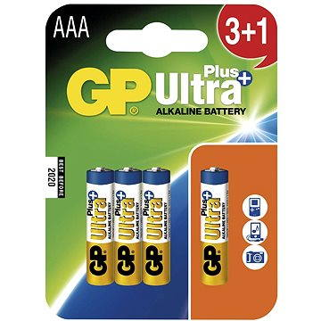 GP Ultra Plus LR03 (AAA) 3+1ks v blistru (GP24AUP3)