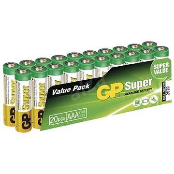 GP Super Alkaline LR03 (AAA) 20ks v blistru (1013100210)