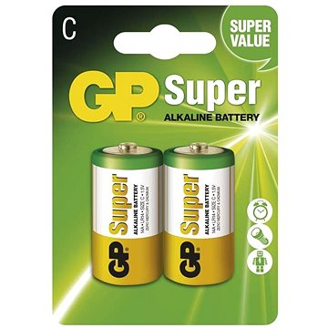 GP Super Alkaline LR14 (C) 2ks v blistru (B1331)