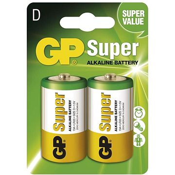 GP Super Alkaline LR20 (D) 2ks v blistru (B1341)