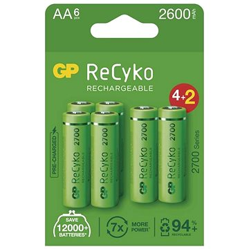 GP ReCyko 2700 AA (HR6), 6 ks (1032226270)