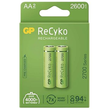 GP ReCyko 2700 AA (HR6), 2 ks (1032222270)