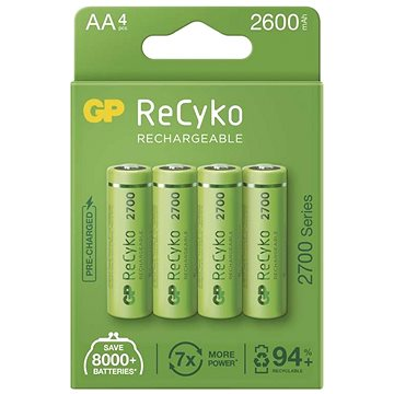 GP ReCyko 2700 AA (HR6), 4 ks (1032224270)