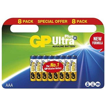 GP Alkalická baterie GP Ultra Plus AAA (LR03), 8 ks (1017108000)