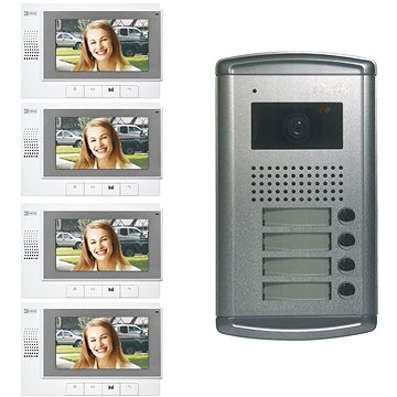 Souprava videotelefonů EMOS pro 4 nezávislé účastníky