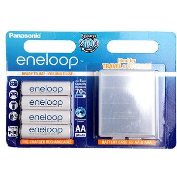 Panasonic eneloop AA 1900mAh 4ks + case (HR-3UTGB-4BP-CASE)