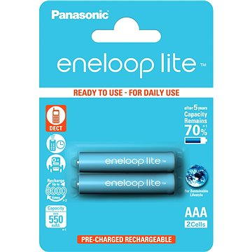 Panasonic eneloop lite AAA 550mAh 2ks (HR-4UQ-2BP)