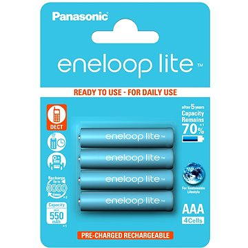 Panasonic eneloop lite AAA 550mAh 4ks (HR-4UQ-4BP)
