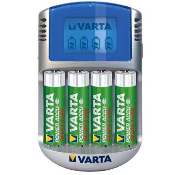 VARTA PowerPlayLCD Charger+ 4x AA Accu 2500 mAh Mignon (57070201451)