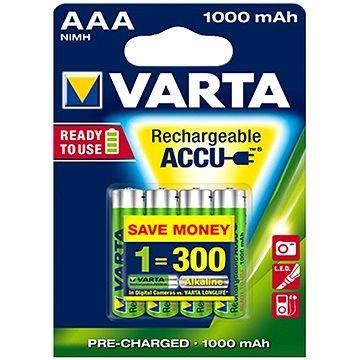 VARTA Professional Accu, AAA tužkové NiMH 1000mAh, 4 ks (05703301404)