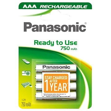 Panasonic Ready to Use AAA HHR-4MVE/4BC 750 mAh 3+1 ZDARMA (HHR-4MVE/4B1 3+1)