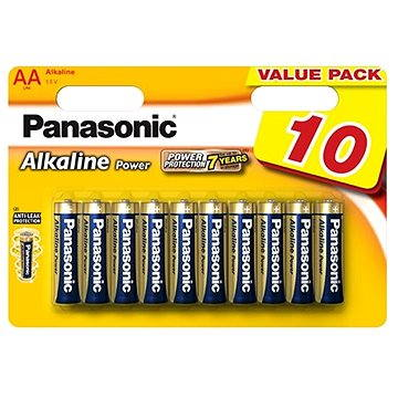 Panasonic AA Alkaline Power LR6 10ks (LR6APB/10BW)