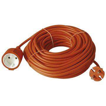 Emos Prodlužovací dvoužílový kabel 20m, oranžový (1901012001)