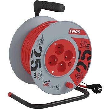 Emos Prodlužovací kabel na bubnu- 4 zásuvky 25m (1908042501)