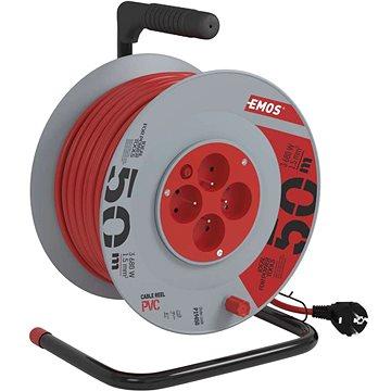Emos Prodlužovací kabel na bubnu- 4 zásuvky 50m (1908045001)