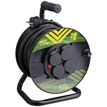 Emos Gumový prodlužovací kabel na bubnu - 4 zásuvky 25m (1908242503)