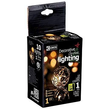 Emos 10 LED Xmas Metal Ball IP20 (1534141050)