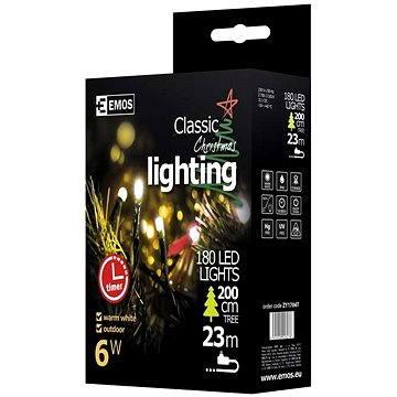 EMOS LED vánoční řetěz, 18m, teplá bílá, časovač (8592920028278)