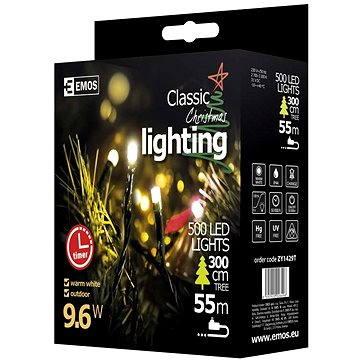 EMOS LED vánoční řetěz, 50m, teplá bílá, časovač (8592920026496)