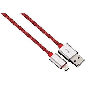 Hama Color Line USB A - Lightning, 1m, červený (80525)