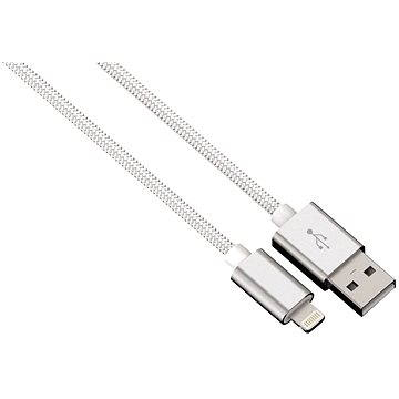 Hama Color Line USB A - Lightning, 1m, bílý (80528)