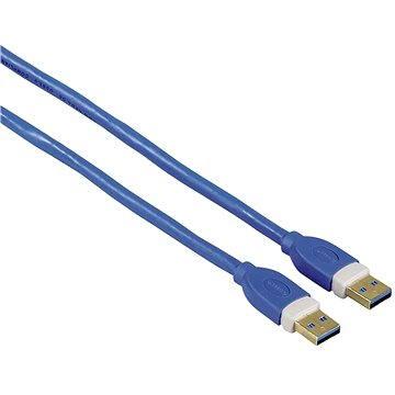 Hama propojovací USB 3.0 A-A, 1.8m, modrý (39676)