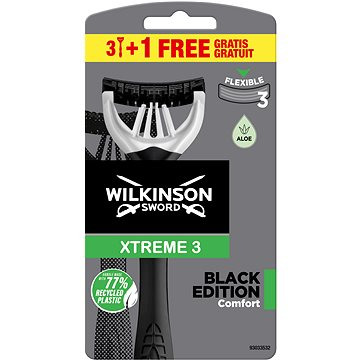 Holicí strojek WILKINSON Xtreme3 Black (3+1 ks) (4027800872268)