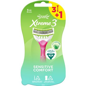 Dámská holítka WILKINSON Xtreme3 Beauty Sensitive (3+1 ks) (4027800471409)