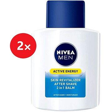 NIVEA Men Balzám po holení 2v1 Active Energy 2× 100 ml