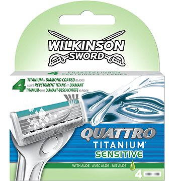 Wilkinson Sword Quattro Titanium Sensitive 4 kusy