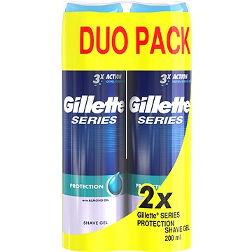 Gel na holení GILLETTE Series Gel Extra Protection 2 × 200 ml (7702018442409)