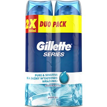Gel na holení GILLETTE Series Gel Ultra Sensitive 2 × 200 ml (7702018442423)