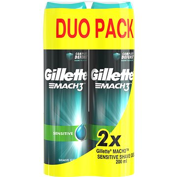 Gel na holení GILLETTE Mach3 Gel Sensitive 2 × 200 ml (7702018442447)