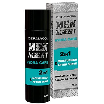 DERMACOL Men Agent Moisturizing Gel-Cream and Aftershave Balm 50 ml (8590031105383)