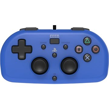 HORI Wired Mini Gamepad modrý - PS4 (4961818028395)