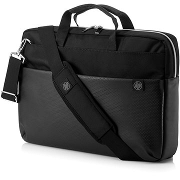 "HP Pavilion Accent Briefcase Black/Silver 15.6"" (4QF95AA#ABB)"