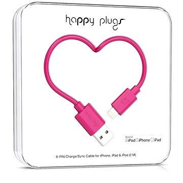 Happy Plugs Lightning Cerise 2m (9907)