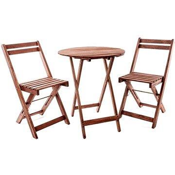 Happy Green Balkonový dřevěný set ACACIA, kulatý stůl (37BSRDTXFCH)