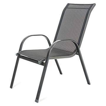 Happy Green Židle zahradní RAMADA, antracit pruh (50320100A)