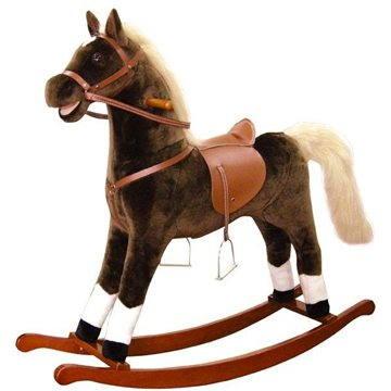 Bino Velký plyšový houpací kůň - hnědý (4019359825321)