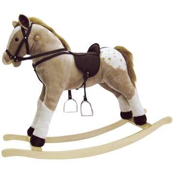 Bino Velký plyšový houpací kůň - Puntík (4019359825338)