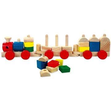 Bino Barevný dřevěný vláček (4011768625004)