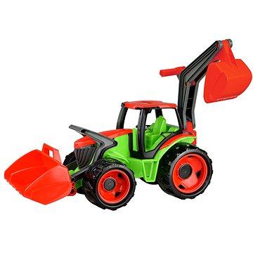 Lena Traktor se lžící a bagrem modro-šedý (4006942782604)