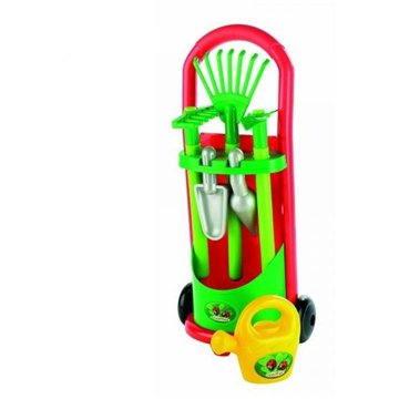 Vozík se zahradním nářadím a konvičkou (3280250003397)